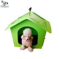 New Design Portabe PP Plastic Pet House Detachable Outdoor Puppy Cat Bed House