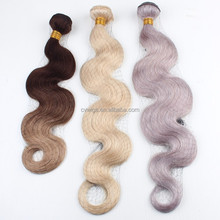 Fashion style popular color platinum blonde human hair extension with double drawn