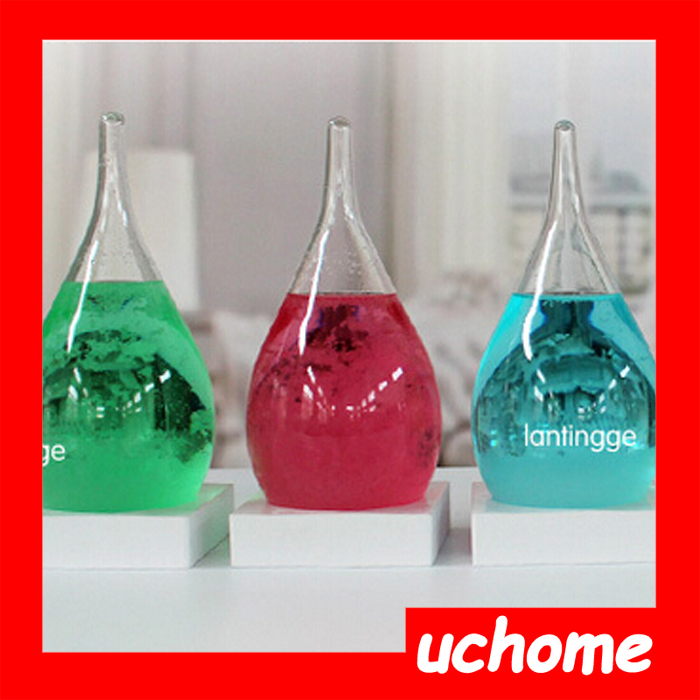 UCHOME High quality For Christmas Gift Weather Forecast Bottle Storms Drops Hourglass Bottle