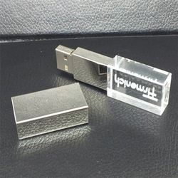 Wholesale new design crystal glass USB Flash Drive with LED Light 32gb usb flash drive