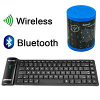 bluetooth Wireless Flexible Folding Silicone Rubber Keyboard for PC Laptop iPad