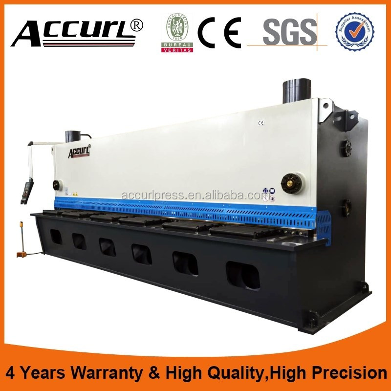 12X5000mm Accurl Brand Hydraulic Guillotine Shearing Machine Offered Overseas Service