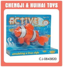 Active swimming baby toy plastic nemo fish toy