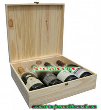 dual; cheap wooden wine box