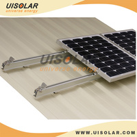 Solar pitched tin roof mounting system for residential and comercila application