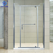 3 Pieces Economic Glass Hinges Shower Door Portable Shower Screen With Towel Holder
