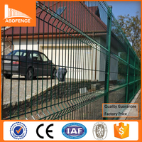 Powder coated fence panels / decorative welded fence panels / welded wire mesh fence panels