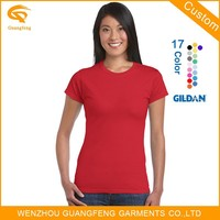 Wholesale Blank Brand 100%Cotton Ladies T Shirt In Various Colors