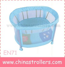 Folding Portable Baby Cot Play pen colorful baby play yard can add screen print