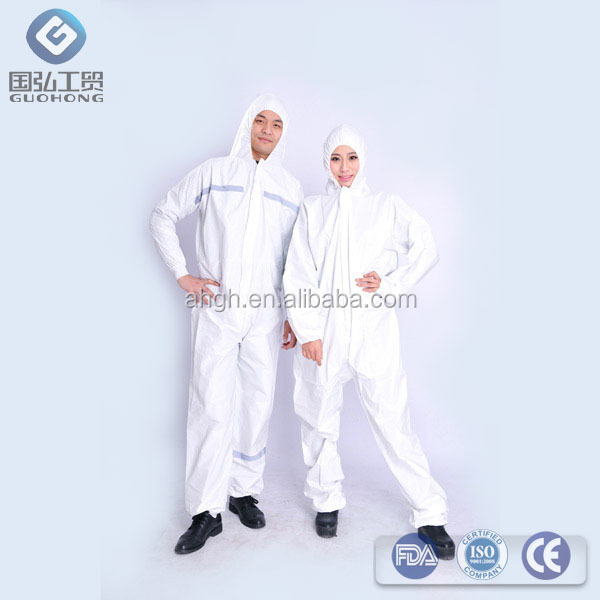 disposable nonwoven coverall for medical and surgical use with different kinds of sizes and colors available