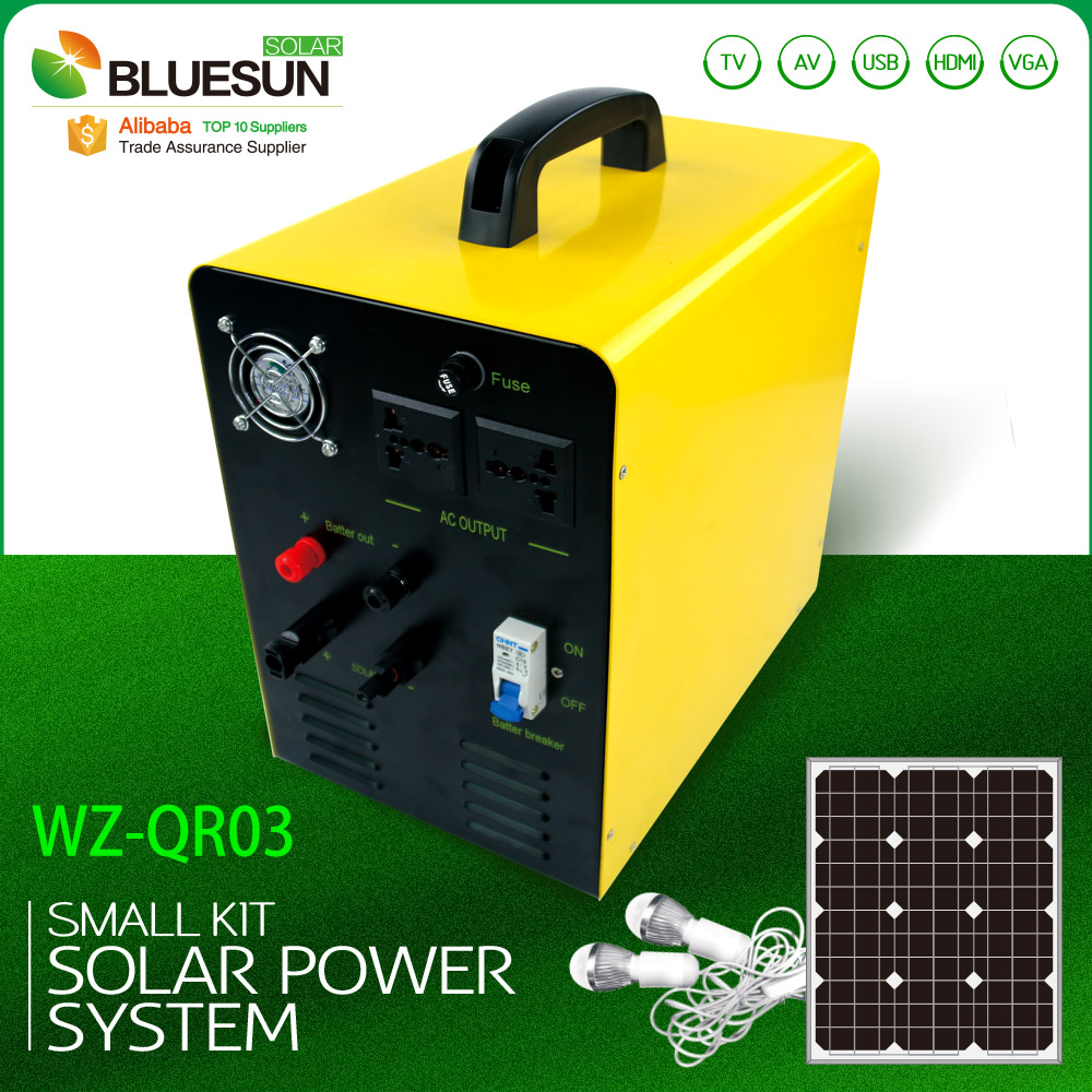 solar powered portable generator AC 220V DC 12V portable solar system