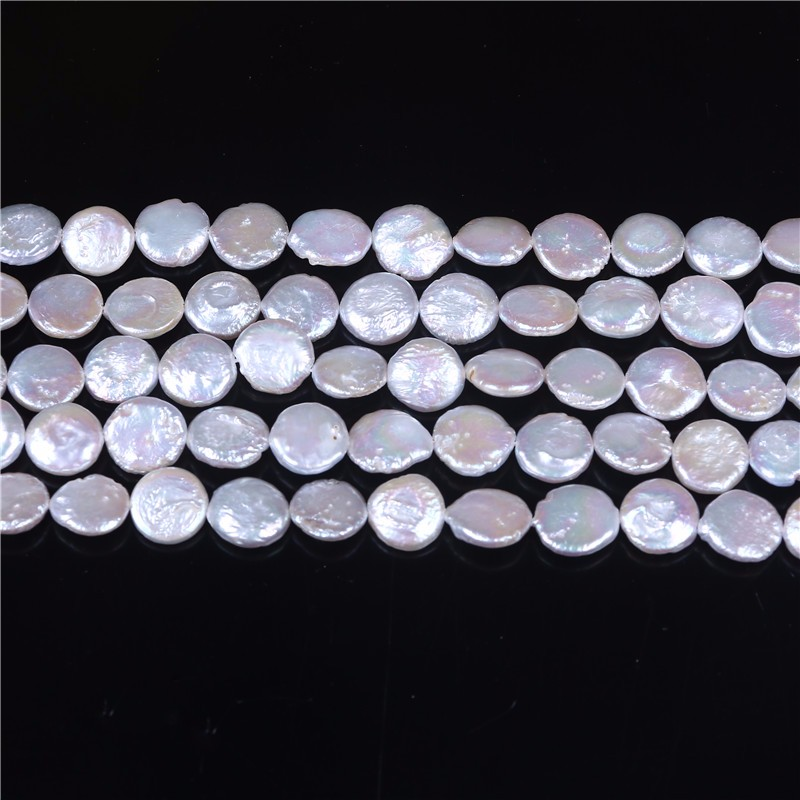 10-11mm Coin Freshwater Pearl Strand for Necklace Jewelry