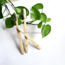 100% biodegradable wholesale family pack bamboo toothbrush
