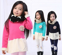 2014 clothes fashion trendy winter 3 years old baby girls dresses