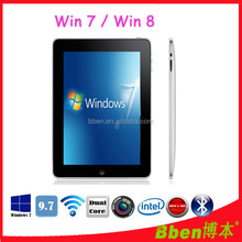 Windows tablet pc Dual Core Z2600 laptop 9.7inch Tablet pc with keyboard 3G tablet pc