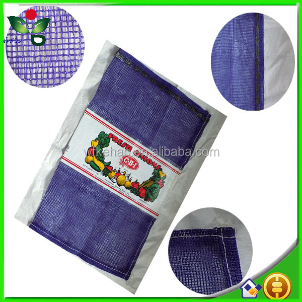 50lb onion potato seafood pp leno mesh bag with drawstring