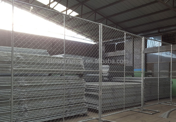 6ft chain link netting type galvanized temporary fence construction panels