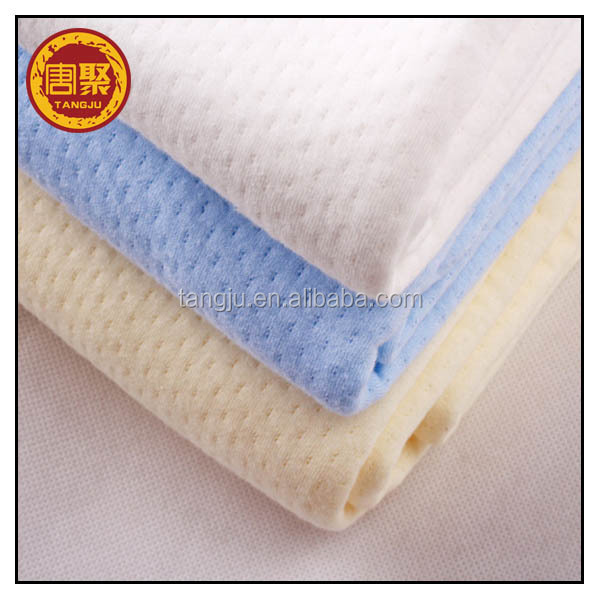 Good quality single or double knitted 100% cotton pique fabric for Polo shirt tangju