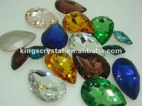 Mix Size Mix Colors Teardrop Pointback Crystal Rhinestones Fancy Stones For Dress DIY Phone Nail Art Accessories