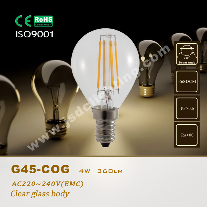 G45 LED FILAMENT LIGHT 4W E27/E14 220V