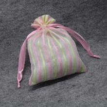 Personalized Customized Packaging Christmas Gift Drawstring Organza Bags