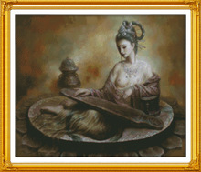 Joy Sunday Dunhuang figures of naked Printed Canvas DMC Counted Chinese Cross Stitch Kits printed Embroidery Needlework set