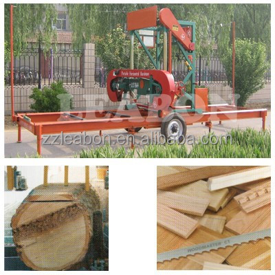 LEABON horizontal portable sawmill used in plank making for sale