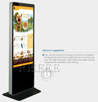 Refee 32/42/55/65 touch screen kiosk with a4 printer advertising player top quality factory price best seller in 2015