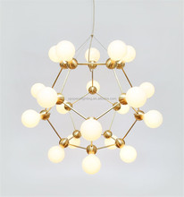 (XCP7461-20) wholesale new design deluxe light lina DNA gold black pendant light