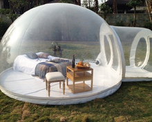 inflatable transparent bubble lodge tent with rooms