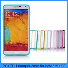 Clear Color Frame TPU Bumper Phone Case Cover Skin For Samsung Galaxy Note III 3 N9000