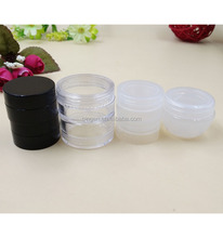 Empty Plastic Cosmetic Loose Powder Packaging Stackable Jars