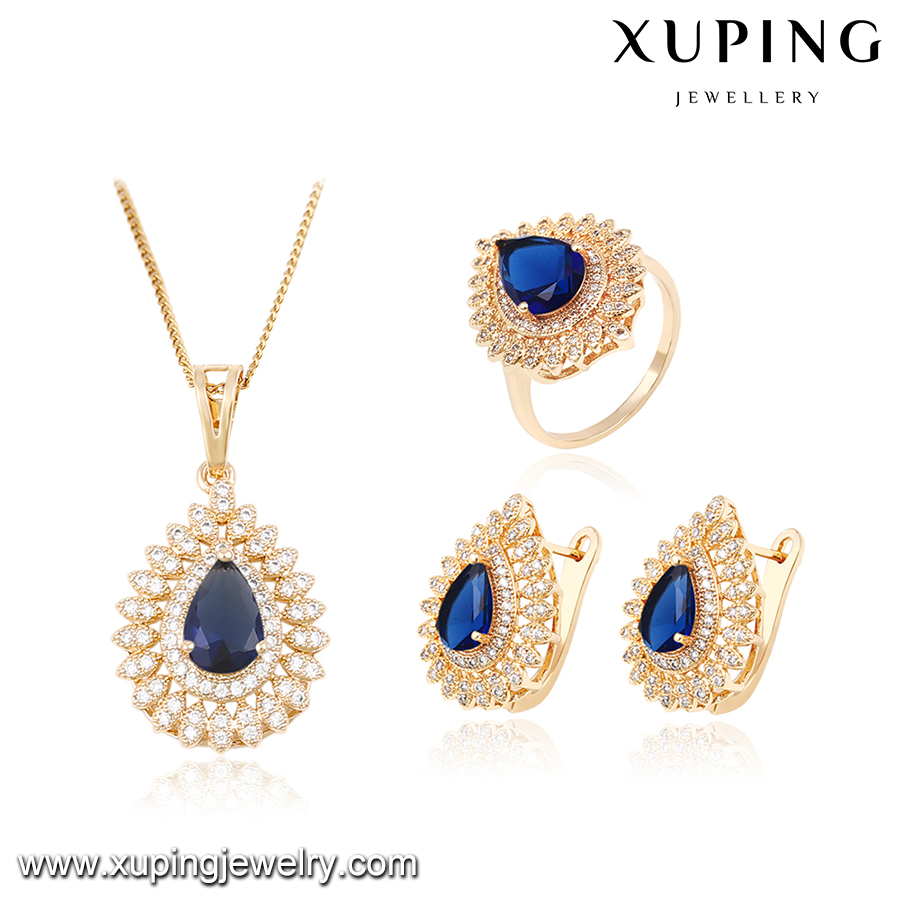 63881- Xuping Jewelry Fashion and Hot Sale Bridal Wedding Jewelry Set With 18K Gold Plated