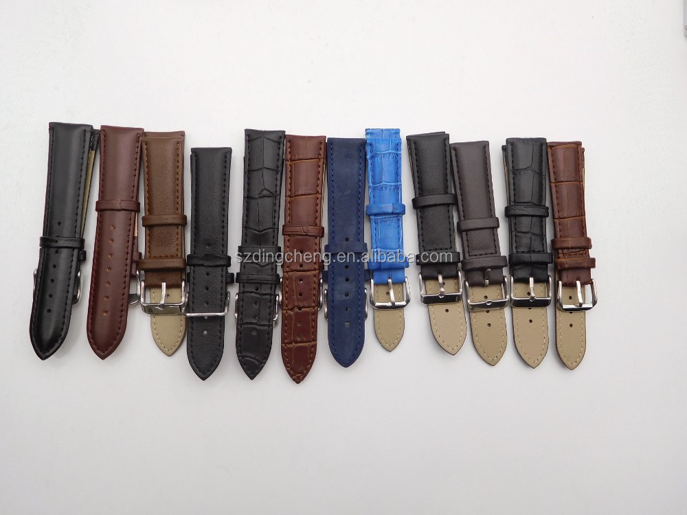 fashion genuine leather watch band leather watch straps interchangeable watch straps