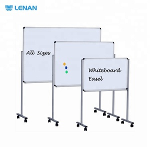 Strong Aluminum Frame All Sizes Height Adjustable Magnetic Easel Whiteboard with Stand Wheels
