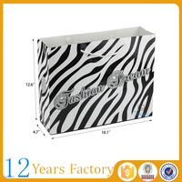 fancy design black and white striped gift bags