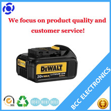Best selling 2017! Dewalt replacement battery pack 18V 4Ah Lithium ion batteries for Dewalt cordless drill