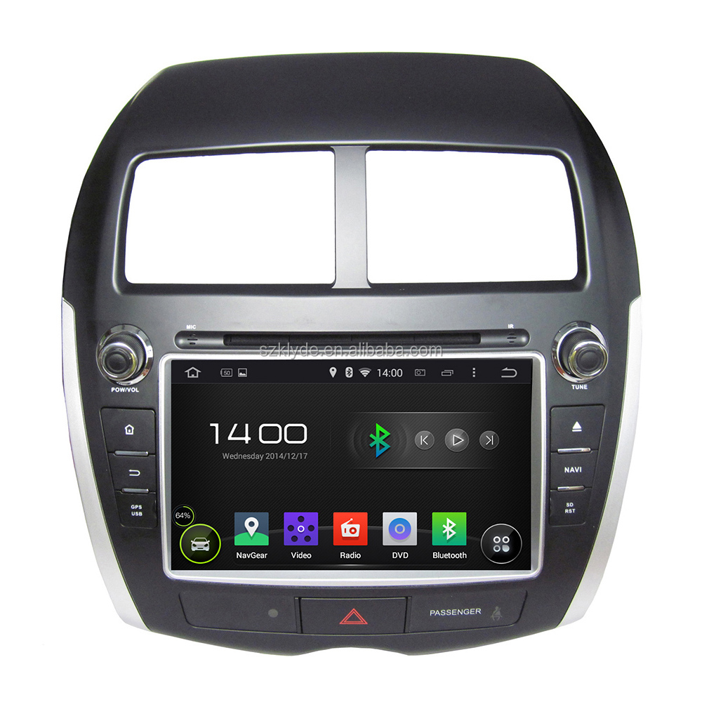 Hot sale touch screen quad core RK3188 android 4.4.4 car dvd player for ASX/PEUGEOT 4008/CITROEN C4 with Bluetooth & Radio
