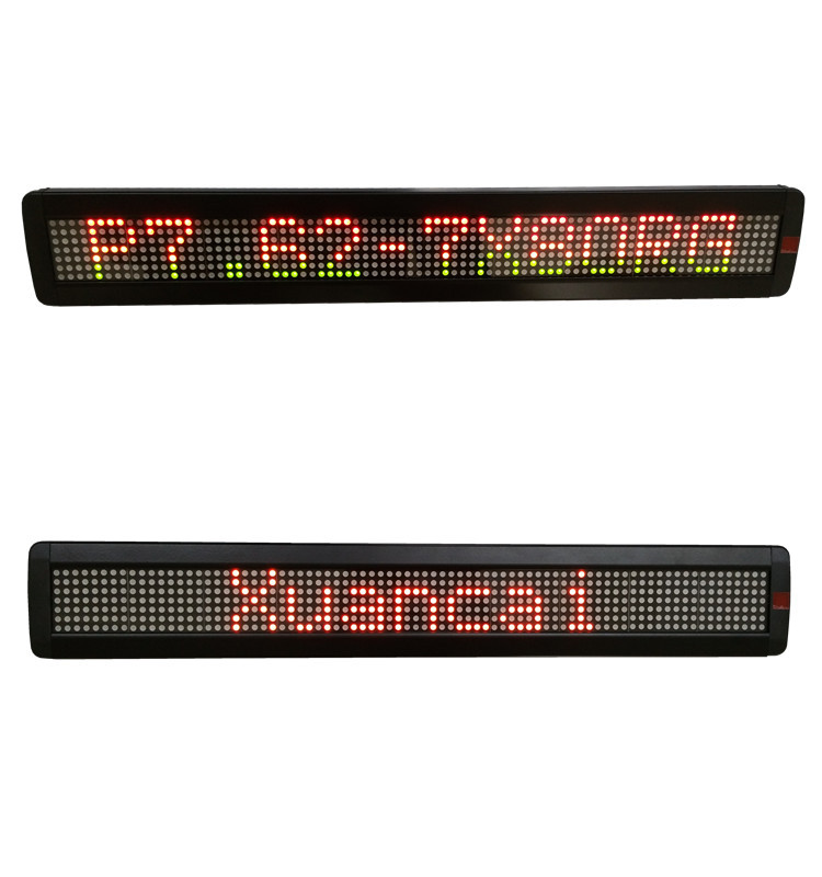 RG double color P7.62-7x80 programmable single line led sign customized RS232 or USB control