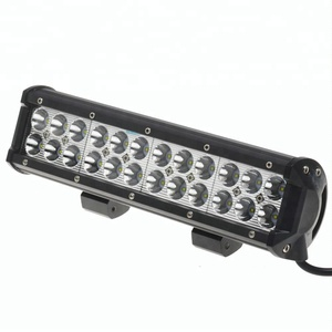auto lighting 12 inch 72W 24v led work light for car 12 volt led offroad led light bar