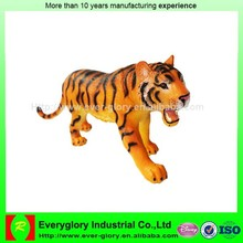 Custom design animal figurine, tiger shape animal figures for sale