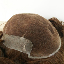 New arrival full french face human hair toupee for women