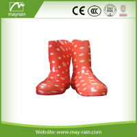 Orange Color Easy Wearing Rain Boot for Kids