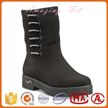 Latest black women PU/leather boots italian style lady winter boots