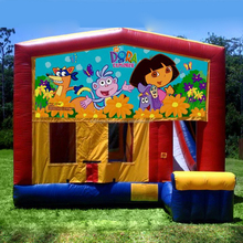cheap moonwalks, used moonwalks for sale, inflatable Dora bouncer moonwalk