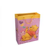 New arrival simple design beautiful recyclable wholesale cute bear paper shopping bags