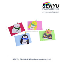 Cute superior quality 3d marry christmas cards printing