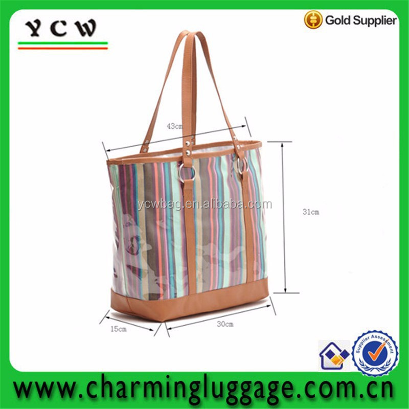leather waterproof beach bag for ladies