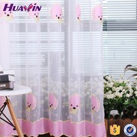 100% polyester Professional Fringe embroidered voile curtains,baby design curtain fabrics