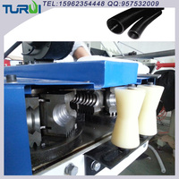 China Manufacturer of plastics corrugated tubes making machine made of PA PE PP PVC EVA extrusion technology